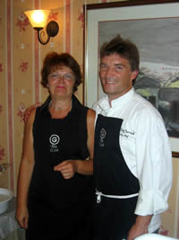 Lindy Wildsmith with executive chef Bill McCarrick